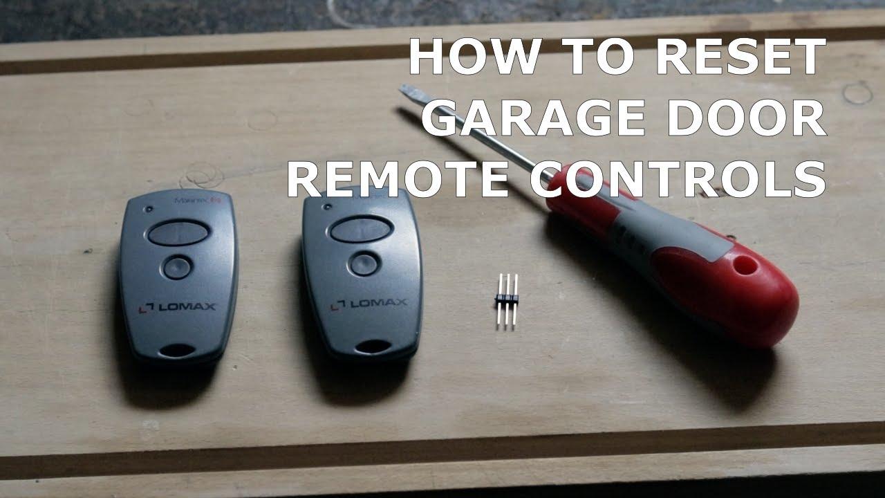 Reset A Garage Door Remote Controls Marantec Comfort 220 2 Youtube