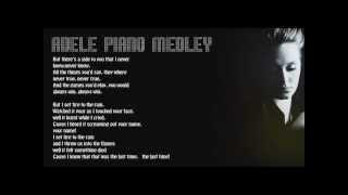 Adele Medley (Piano Karaoke Instrumental)