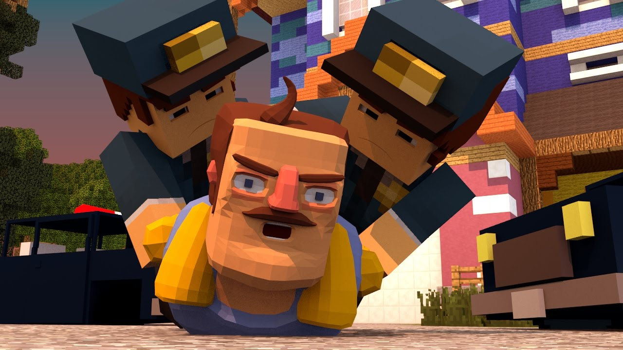 Minecraft Hello Neighbor Police Arrest The Neighbor