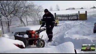чистим снег-испытание отвала