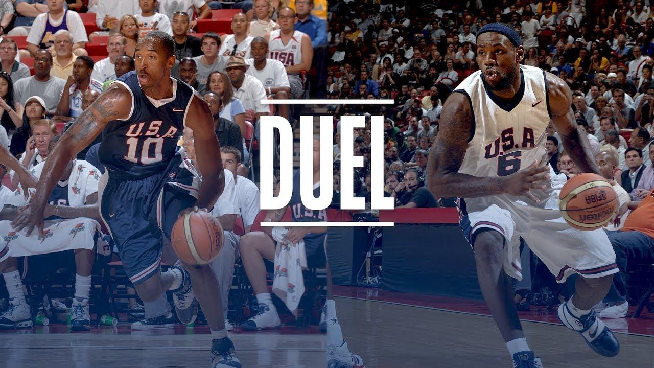 Lebron James Kobe Bryant Epic Usa Basketball Duel 2007 Team Usa Scrimmage