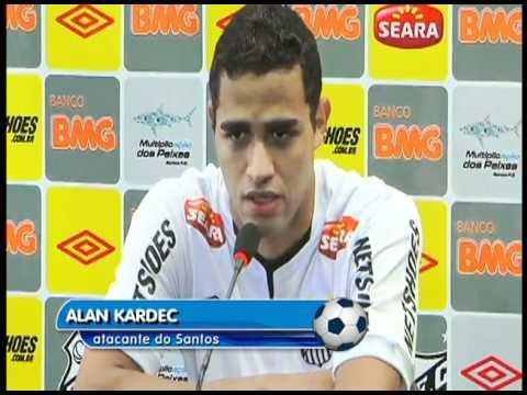 O Santos apresentou o atacante Allan Kardec