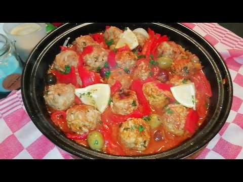 boulettes-de-viande-hachée-au-riz-***recette-facile***