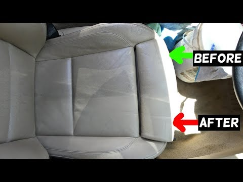 HOW TO CLEAN CAR LEATHER SEATS. Amazing Results