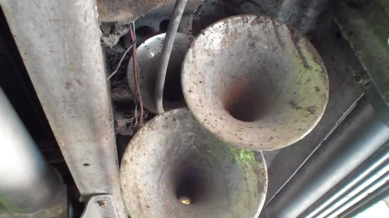 hight resolution of train horn install on truck