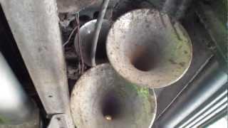 Train horn install on truck