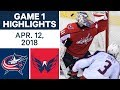 NHL Highlights | Blue Jackets vs Capitals, Game 1 - Apr. 12, 2018