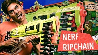 Łańcuchowy NERF na Zombiaki! Nerf Ripchain
