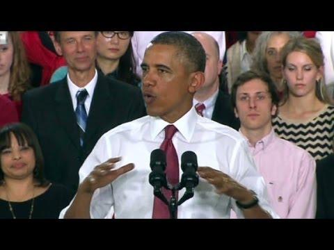 Obama announces first manufacturing hub in North Carolina.