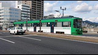 広島電鉄3950形3951号『テッピー号』本川町〜原爆ドーム前