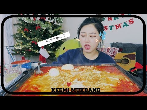 A Simple way to enjoy [Nuclear Super Spicy Noodles with Rice Cakes] Mukbang!!