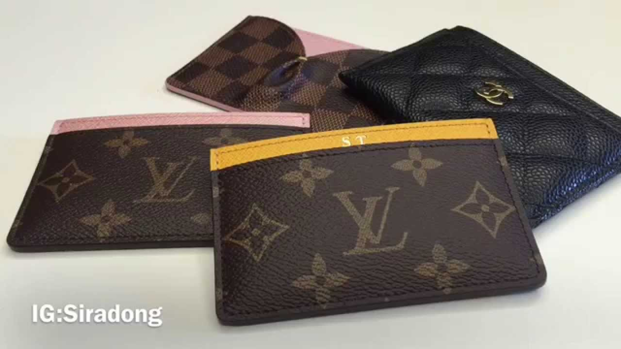Comparison review louis vuitton chanel card holder youtube reheart Image collections