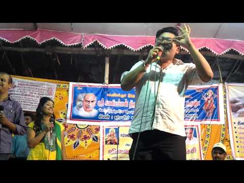 Sollameley poove unnakage singing by Chinese guy in male and female voice