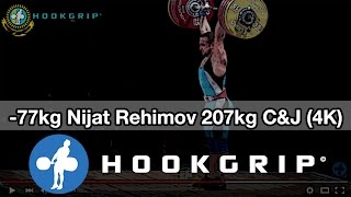 Nijat Rehimov (77) - 207kg Clean and Jerk (4k)