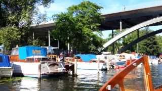 Träbåtar i Långholmskanalen, Stockholm(, 2013-08-08T13:29:59.000Z)