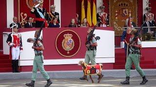 Así fue el desfile militar del Día de la Hispanidad 2015