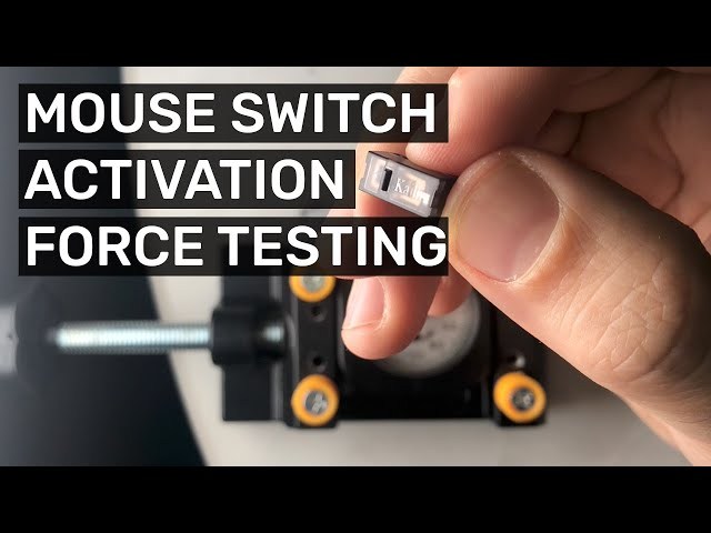 Measuring Switch activation force for Mouse Microswitches (Kailh, Huano, Zippy, Omron, Razer)