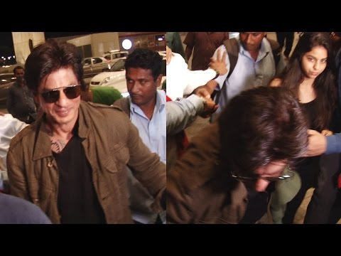 Thumbnail: Shahrukh Khan FALLS at Mumbai Airport