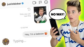 DM'ing 100 CELEBRITIES TO SEE WHO WOULD REPLY.. **it actually worked** | Gavin Magnus
