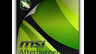 Como Gravar GamePlays Sem lag (cair FPS ) - MSI Afterburner(Configurando Aft Burner)