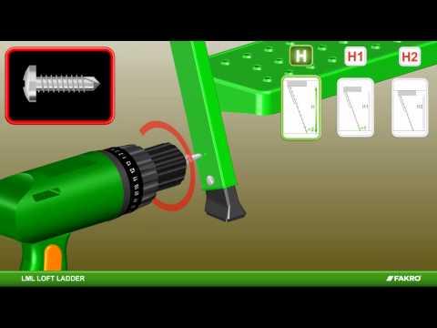 FAKRO | Montagevideo LML metalen zoldertrap