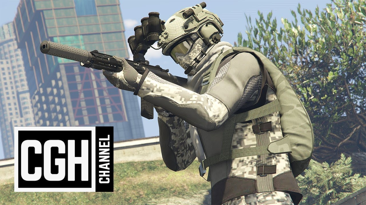 GTA 5 Online - Best Military Outfits (4K) - YouTube