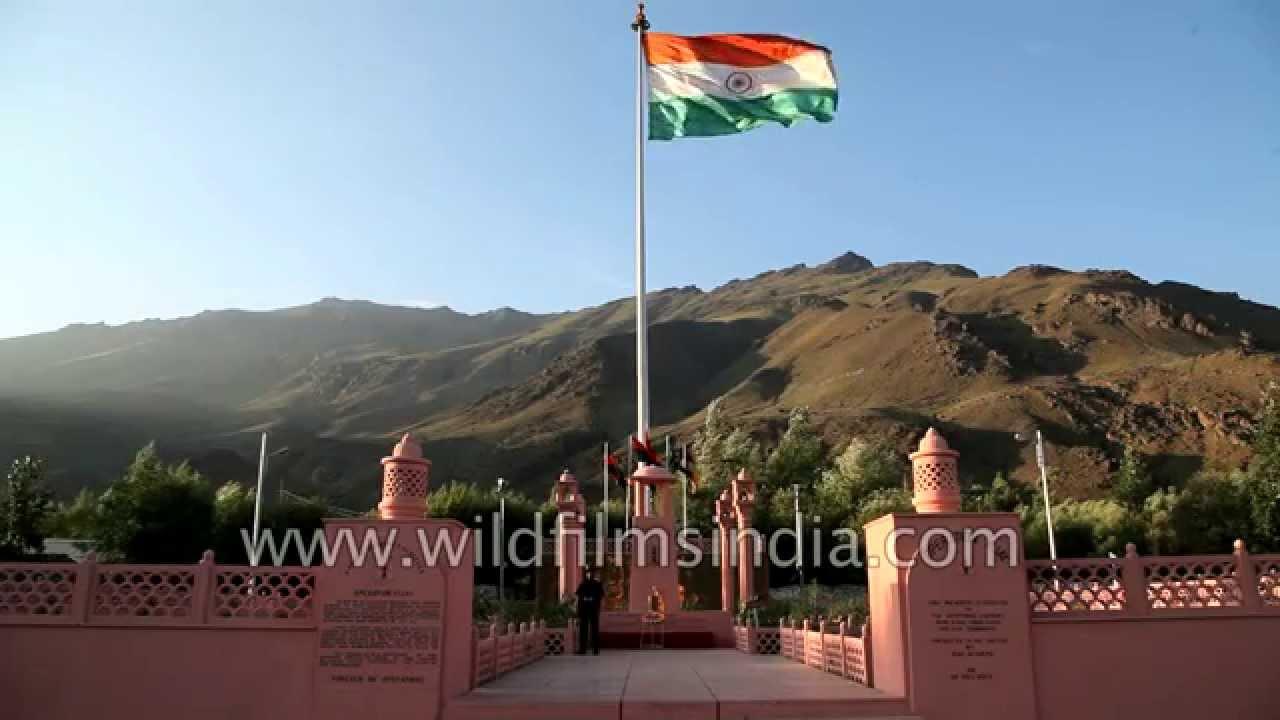 Tololing ridge can be seen from Kargil War Memorial in Dras