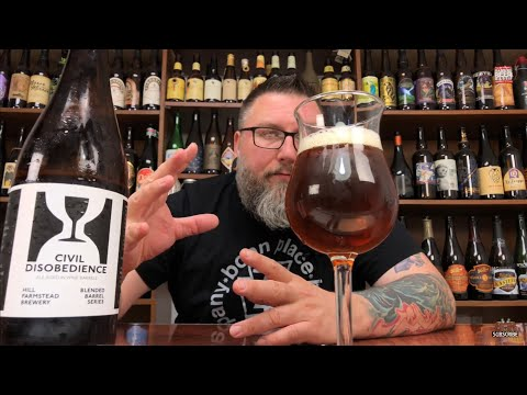 Massive Beer Review 1663 Hill Farmstead Civil Disobedience Farmhouse Ale Batch 24
