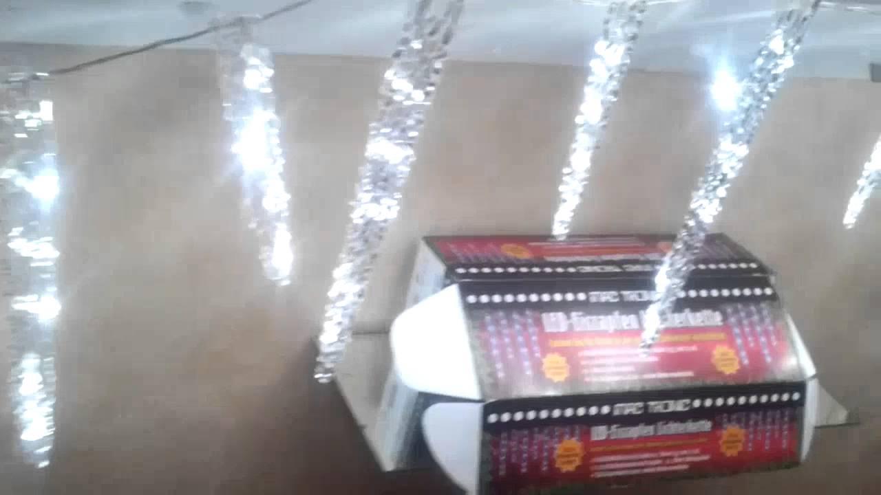 Weihnachtsbeleuchtung Eiszapfen Lauflicht.80er Led Eiszapfen Weihnachten Mac Tronic Led