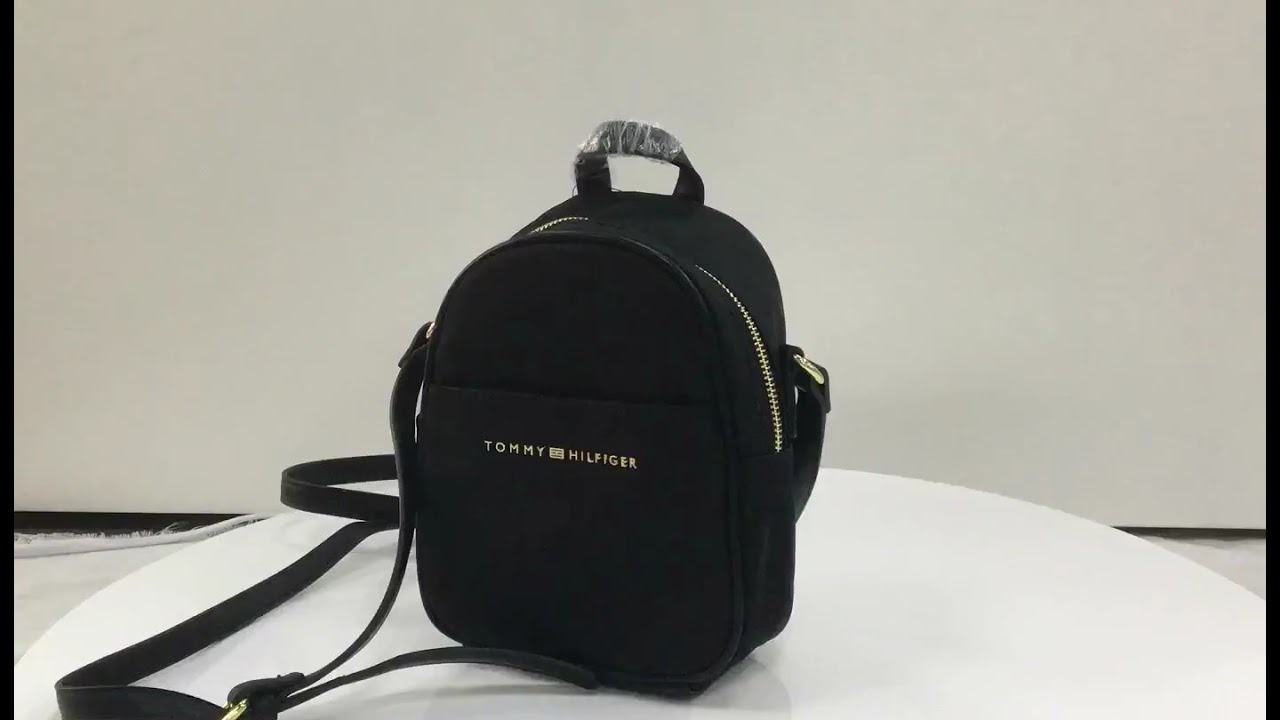 8a229423 Tommy Hilfiger Mini Crossbody Backpack - YouTube