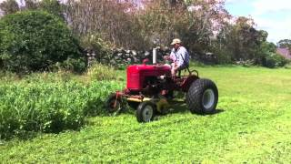 Farmall Cub with Mott Flail Mower