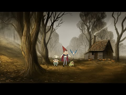 Gravity Falls Wallpaper For Computer Over The Garden Wall Digital Background Painting Process
