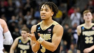 Relive Carsen Edwards' insane performance in the Elite 8