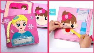 Quietbook Doll house, Sách vải bé giúp mẹ làm việc nhà công chúa Elsa, Đồ chơi trẻ em (Chim Xinh)
