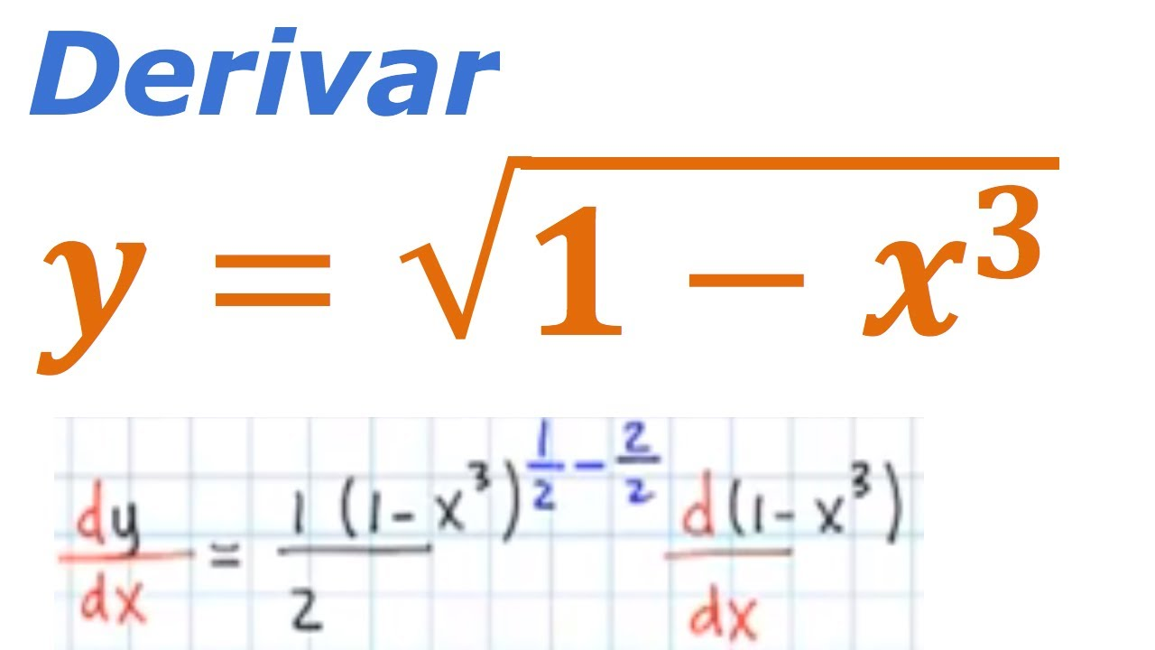 derivada de una raiz cuadrada - Derivative Of A Square Root - YouTube