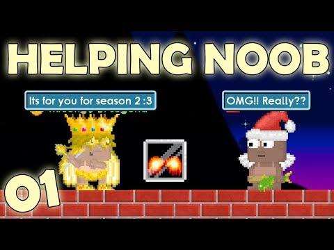 GrowTopia | Helping Noob 01 (Season 2) + Qna!! (BIGGEST HELP!!) OMG!!