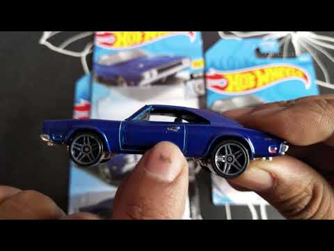 Hot Wheels - '69 Dodge Charger 500 - Dark Blue - HW 2019 #80/250 - Rod Squad 9/10 - FYD94-D9C0J