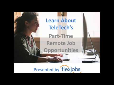 Learn About TeleTech's Part-Time Remote Job Opportunities, hosted by FlexJobs