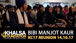 Bibi Manjot Kaur - mere meet gurdev mo ko raam naam pargaas - KC17 Reunion GNG Smethwick 14.10.17