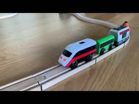 LILLABO Battery-operated Locomotive L Brio Smart Tech And Ikea Rails Wooden L  Brio World Vilcieniņš