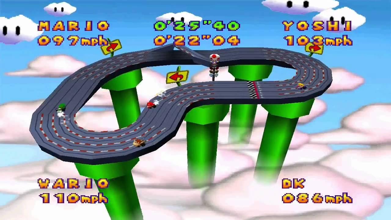 Mario party 64 slot car derby ancien berceau osier roues roulettes vendre
