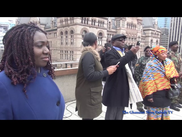 Ghana Flag Raising Ceremony at Toronto City Hall 2017