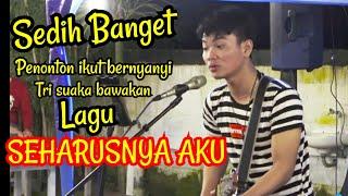 Download Penonton Di Bikin Mewek  !!! SEHARUSNYA AKU - MAULANA WIJAYA - Live Menoewa Kopi Jogja