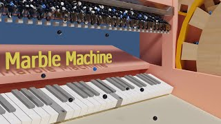 the Piano Printer V3 - Marble Machine Physics Simulation (Wintergatan)
