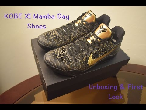 kobe-xi-mamba-day-shoes-unboxing-&-first-look