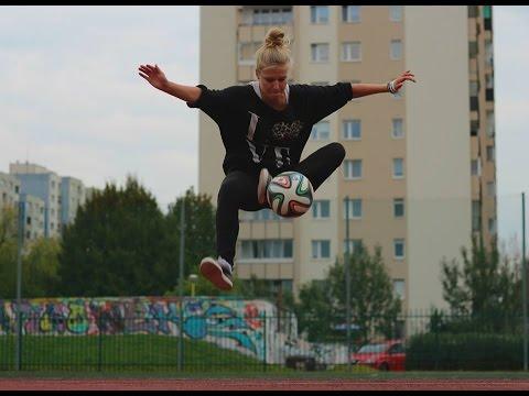 Female Football Freestyle Tricks