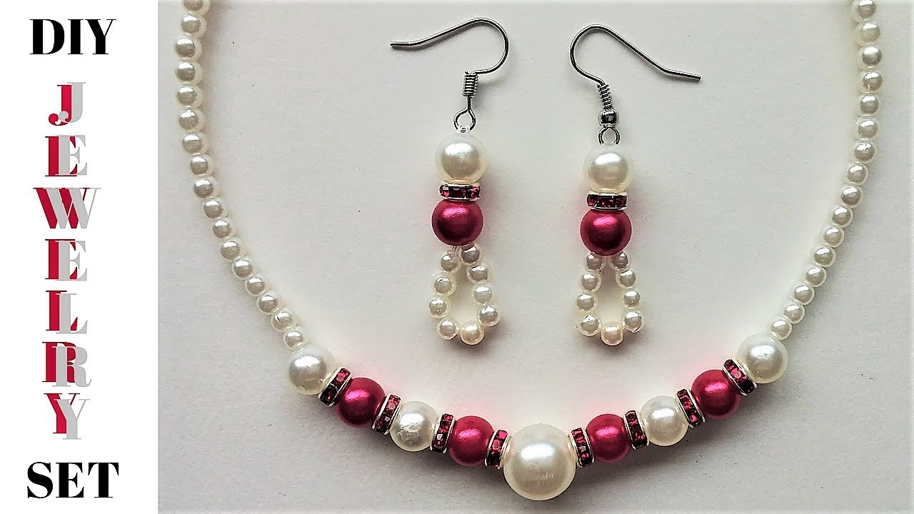Easy Diy Jewelry Set Tutorial Beaded For An Elegant Outfit