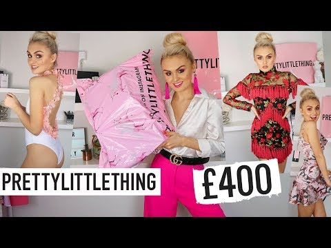£400-pretty-little-thing-haul-/-try-on-/-wedding-guest-&-prom-dresses