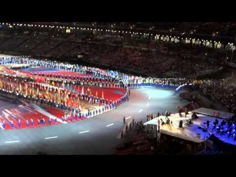London Olympic Games Closing Ceremony - Parade of Athletes - Elbow - One Day Like This