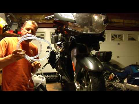 Coolant change for BMW motorcycles using vacuum filler